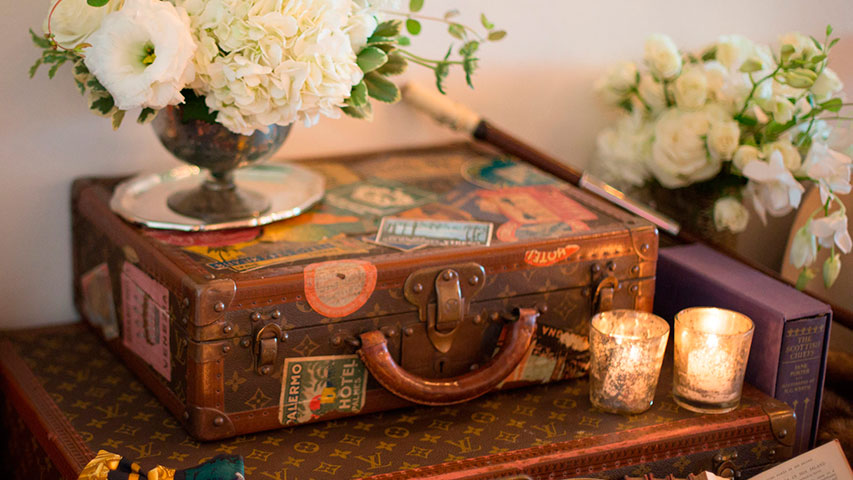 Vintage Travel Inspired Wedding